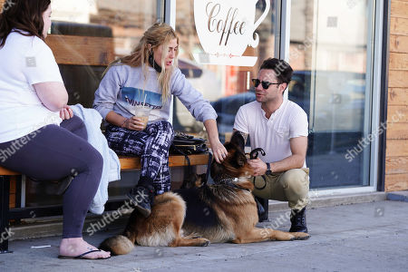 Editorial photo of Emma Slater and Sasha Farber out and about, Los Angeles, California, USA - 14 Jan 2021