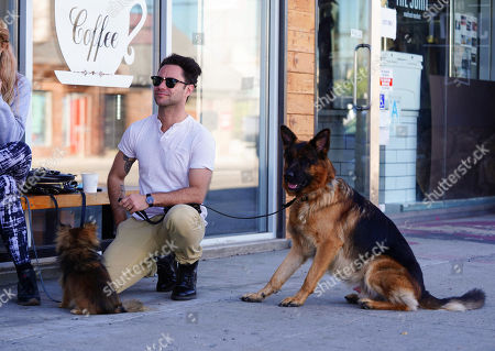Editorial picture of Emma Slater and Sasha Farber out and about, Los Angeles, California, USA - 14 Jan 2021