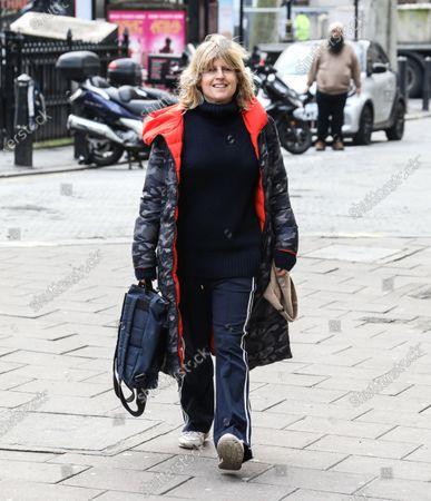 Stock Image of Rachel Johnson seen arriving at the Global Radio Studios in London.