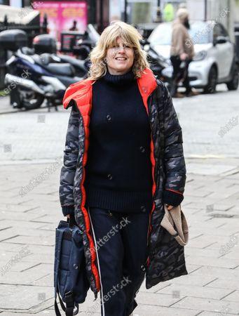 Stock Photo of Rachel Johnson seen arriving at the Global Radio Studios in London.