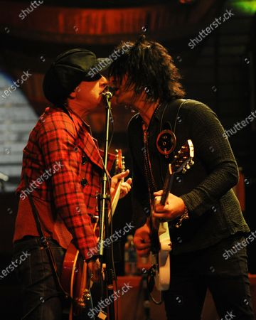 Steve Conte and Sylvain Sylvain of New York Dolls perform at the Culture Room