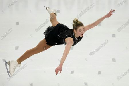 Gracie Gold performs during the women's free skate at the U.S. Figure Skating Championships, in Las Vegas