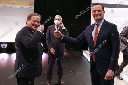Editorial picture of Virtual party congress of German conservative CDU party, Berlin, Germany - 16 Jan 2021
