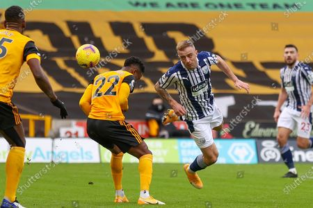 Kamil Grosicki (13) of West Bromwich Albion heads towards goal during the Premier League match between Wolverhampton Wanderers and West Bromwich Albion at Molineux, Wolverhampton