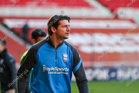 Birmingham City defender George Friend (5) during the warm up ahead of the EFL Sky Bet Championship match between Middlesbrough and Birmingham City at the Riverside Stadium, Middlesbrough