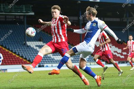 Stock Photo of Blackburn Rovers midfielder Lewis Holtby (10) plays a pass during the EFL Sky Bet Championship match between Blackburn Rovers and Stoke City at Ewood Park, Blackburn