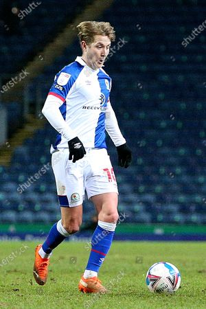 Blackburn Rovers midfielder Lewis Holtby (10) during the EFL Sky Bet Championship match between Blackburn Rovers and Stoke City at Ewood Park, Blackburn