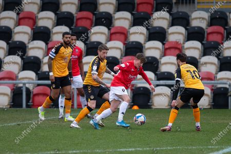 Editorial photo of Newport County v Salford City, EFL Sky Bet League 2 - 16 Jan 2021