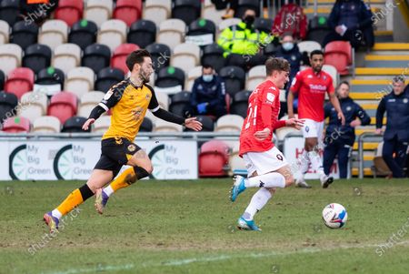 Editorial picture of Newport County v Salford City, EFL Sky Bet League 2 - 16 Jan 2021