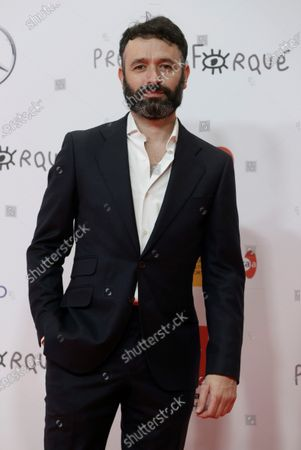 Rodrigo Sorogoyen poses upon his arrival at the Forque Awards Ceremony at Ifema Pavillion in Madrid, Spain, 16 January 2021.