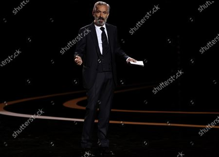 Stock Picture of Spanish actor and show host Imanol Arias reacts during the Forque Awards Ceremony at Ifema Pavillion in Madrid, Spain, 16 January 2021.