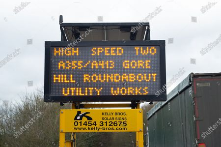 HS2 are carrying out utility works at the bottom of Gore Hill in Amersham on A355 and A413. One of five ventilation shafts for the new High Speed Rail is being built nearby where a tunnel for the train will go underneath the Chilterns. The controversial High Speed Rail from London to Birmingham is massively over budget. Naturalist Chris Packham launched a petition this month for work to stop on HS2 immediately. It has over £135k signatures already