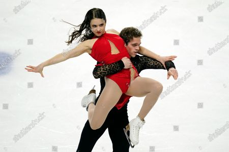 Stock Image of Caroline Green and Michael Parsons perform during the free dance at the U.S. Figure Skating Championships, in Las Vegas