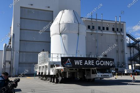 Editorial photo of NASA's Orion Spacecraft Prepared for Mission at the Kennedy Space Center, Cape Canaveral, Florida, USA - 16 Jan 2021