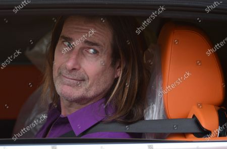 Stock Image of Exclusive - Fabio Lanzoni smiles out of his car window in Brentwood