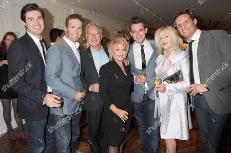Blake with Nicholas Grace and Elaine Paige (centre)
