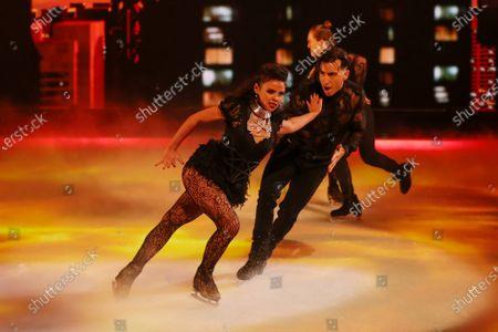 Editorial image of 'Dancing On Ice' TV show, Series 13, Episode 1, Hertfordshire, UK - 17 Jan 2021