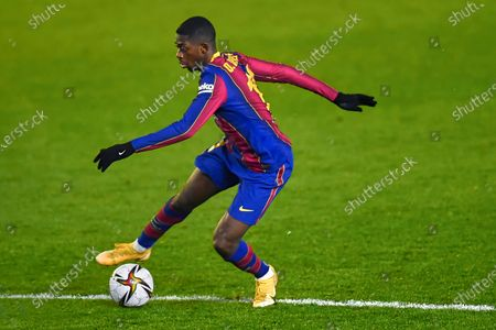 Ousmane Dembele of FC Barcelona during the Spain Supercup Semifinal 1 match between Real Sociedad and FC Barcelona played at El Arcangel Stadium on January 13, 2021 in Cordoba, Spain. (Photo by Pressinphoto/Icon Sport)
