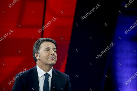 Former Italian prime minister and leader of Italian party Italia Viva, Matteo Renzi, attends the La7 Italian TV program 'Non e l'arena' hosted by Italian journalist Massimo Giletti in Rome, Italy, 17 January  2021.