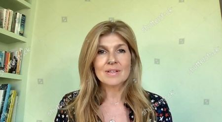Stock Image of American actress Connie Britton speaks during the We The People Concert.
