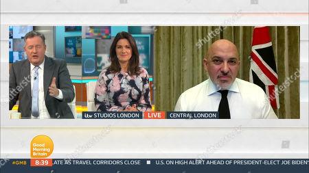 Piers Morgan, Susanna Reid and Nadhim Zahawi