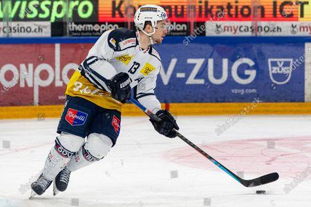 # 13 Marco Mueller (Ambri) during the National League Regular Season ice hockey game