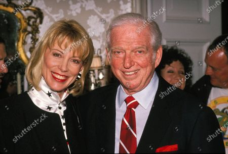 """Sidney Sheldon And Sarah Purcell """"Windmill Of The God"""" Book Party, California 1987"""