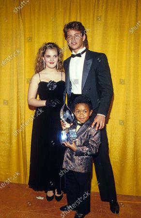 Drew Barrymore, Kirk Cameron Emmanuel Lewis 03-1987