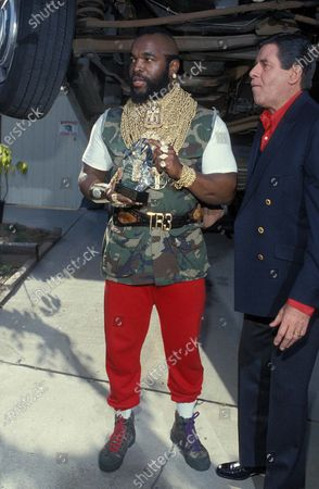 MR T WITH Jerry Lewis 1985