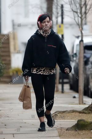 Stock Image of Lily Allen out and about