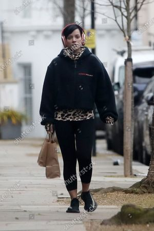 Stock Picture of Lily Allen out and about