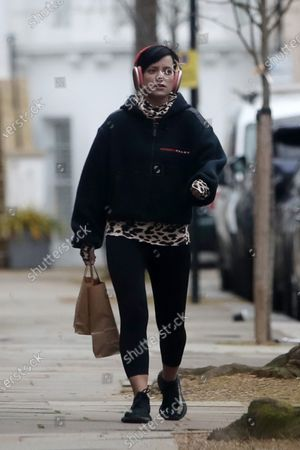 Editorial image of Lily Allen out and about, London, UK - 18 Jan 2021