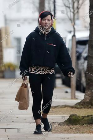 Lily Allen out and about