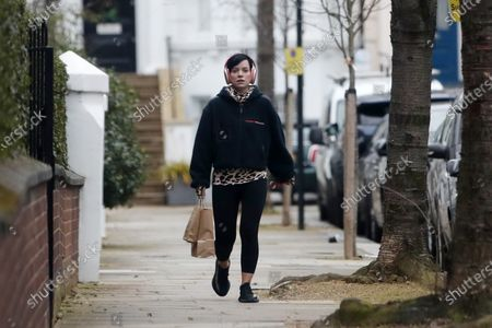 Editorial picture of Lily Allen out and about, London, UK - 18 Jan 2021