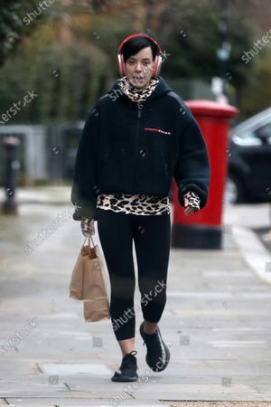 Editorial photo of Lily Allen out and about, London, UK - 18 Jan 2021