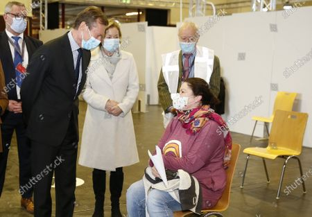 Editorial picture of Grand Duke Henri visits the vaccination center in Luxembourg - 18 Jan 2021