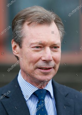 Stock Picture of Grand Duke Henri of Luxembourg during a visit to the vaccination center at Hall Victor Hugo, in Luxembourg, 18 January 2021. Luxembourg citizens as well as cross-border workers receive an appointment for vaccination against COVID-19 thanks to the code provided in the invitation received by post. In the vaccination strategy, the first people to be vaccinated were health professionals and hospital staff.