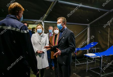 Editorial image of Grand Duke Henri visits the vaccination center in Luxembourg - 18 Jan 2021