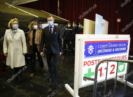 Editorial photo of Grand Duke Henri visits the vaccination center in Luxembourg - 18 Jan 2021