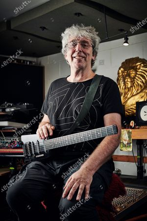 Portrait of English musician Steve Hillage, photographed at his studio in London, England, on September 18, 2019. Hillage is best known as a member of progressive rock group Gong. (Photo by Olly Curtis/Guitarist Magazine)