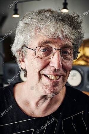 Stock Image of Portrait of English musician Steve Hillage, photographed at his studio in London, England, on September 18, 2019. Hillage is best known as a member of progressive rock group Gong. (Photo by Olly Curtis/Guitarist Magazine)