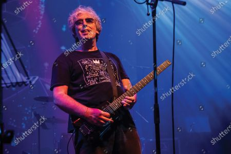 Guitarist Steve Hillage of progressive rock group The Steve Hillage Band performing live on stage at the O2 Shepherd's Bush Empire in London, on June 8, 2019. (Photo by Kevin Nixon/Prog Magazine)