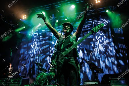 Bassist Melvin Brannon II of American funk rock group Dan Reed Network performing live on stage at Shepherd's Bush Empire in London, on December 11, 2019. (Photo by Kevin Nixon/Classic Rock Magazine)