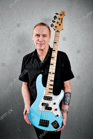 Stock Photo of Portrait of American rock musician Billy Sheehan, photographed during NAMM 2020 at the Marriott Convention Center in Anaheim, on January 14, 2020. (Photo by Olly Curtis/Bass Player Magazine)