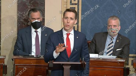 Editorial picture of JOSH HAWLEY, Washington, United States - 07 Jan 2021