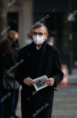 Stock Picture of Philippe Douste Blazy at the funeral service of French deputy Marielle Sarnez at Saint Sulpice Church.