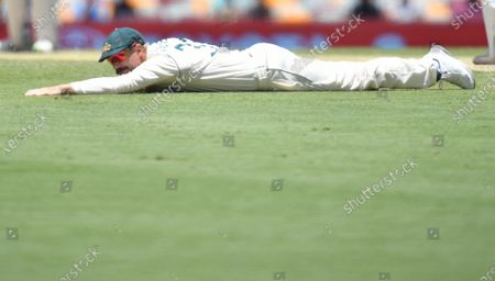 David Warner of Australia is seen during day five of the fourth Test Match between Australia and India at the Gabba in Brisbane, Australia, 19 January 2021.
