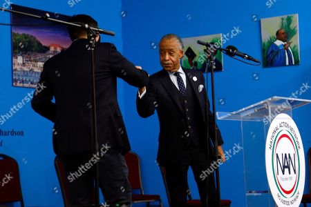 Andrew Yang and Reverend Al Sharpton