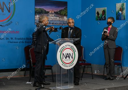 Stock Image of Reverend Al Sharpton and Charles Rangel at Dr. Martin Luther King Day Celebration at National Action Network