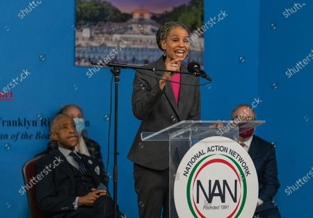 Stock Image of NYC Mayoral candidate Maya Wiley at Dr. Martin Luther King Day Celebration at National Action Network